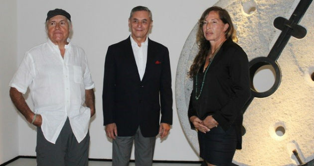 Francisco Gazitúa, Embajador Roberto Ibarra y Angela Leible.