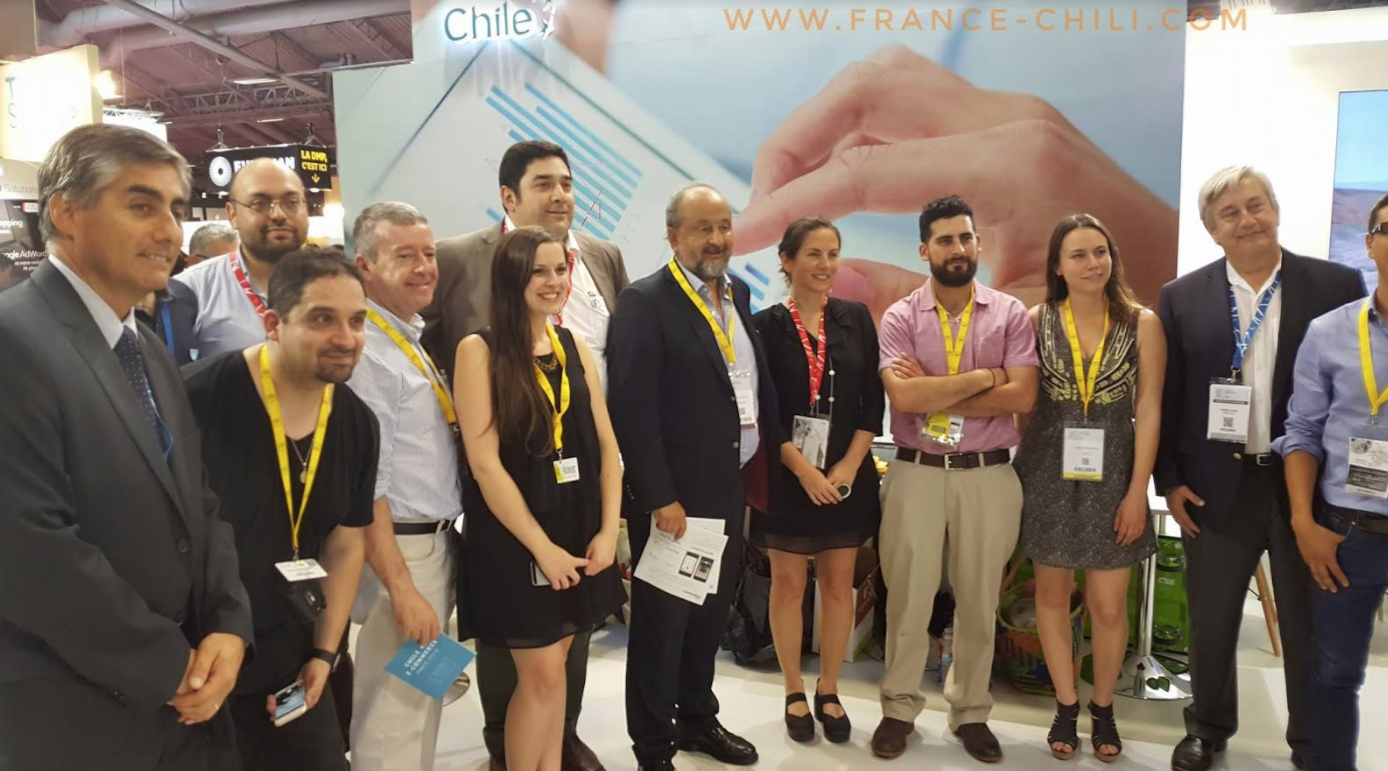 Delegación chilena en la feria e-commerce